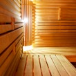 Interior of a hotel sauna, modern wooden design - Stock Photo