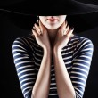 The mysterious beautiful stranger - Stockfoto