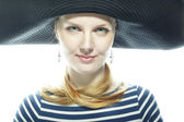 The magnificent blonde the pirate — Stock Photo