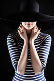 The mysterious beautiful stranger — Stock Photo