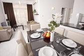 Design de interiores de apartamento de luxo — Foto Stock
