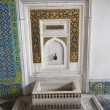 Ornate wash basin at Topkapi Palace in Istanbul — Stock Photo