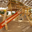 Climbing frame in a childrens play area — Stock Photo #8068417