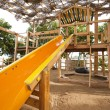 Climbing frame in a childrens play area — Stock Photo