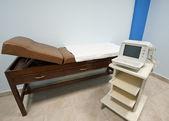 Examination bench and ecg machine — Stock Photo