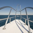 View from a large luxury motor yacht — Stock Photo