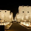 Karnak temple in Luxor at night — Stockfoto