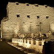 Karnak temple in Luxor at night — Stock Photo