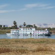 Nile river boat cruising through Luxor — Stock Photo #8796703