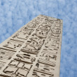 Ancient egyptian obelisk at a temple — Stock fotografie