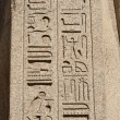 Egyptian hieroglyphics at an ancient temple — 图库照片