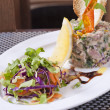 Tuna tartare appetizer — Foto Stock