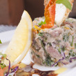 Tuna tartare appetizer — Stockfoto