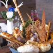 Luxury bread basket in restaurant — Stock Photo #9337427