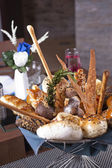 Luxury bread basket in a restaurant — 图库照片