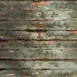 Old Green chipping wood wall — Stok fotoğraf