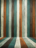 Green Tone old wood wall and floor — Stock Photo