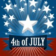 The fourth of july — Imagen vectorial