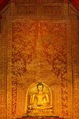 Thai gold Buddha statue — Stock Photo