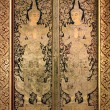 Stock Photo: Thai ancient art Gold angel painting on church door