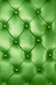 Green leather texture — Stockfoto