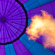 Fire and Abstract of purple balloon — Stock Photo