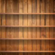Wood shelf on wood wall — Foto Stock