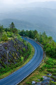 Beautiful curved road on the mountain — Stock Photo