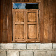 Close old wood window — Stockfoto
