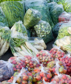 Many kinds of vegetables packed in a plastic bag — Stock Photo