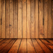 Old wood room - Stock Photo