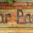 """Car Park""  wood sign — Foto Stock"