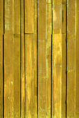 Texture of Yellow color paint plank vertical — Stock Photo