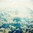 Grunge retro sky image — Stock Photo