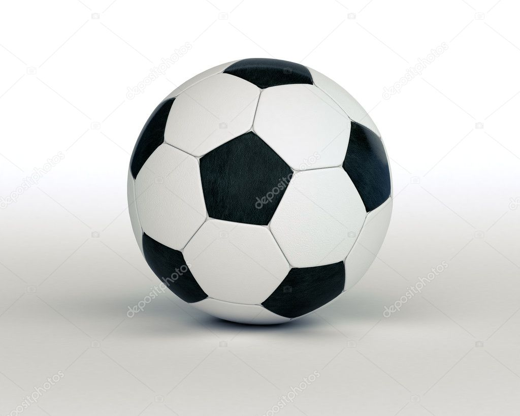 Soccer ball on a light background with a shadow — Stock Photo #10227933