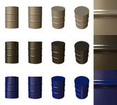 Barrels isolated — Stock Photo