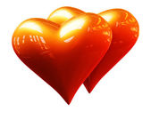 Golden hearts — Stock Photo