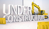 Under construction — Stockfoto