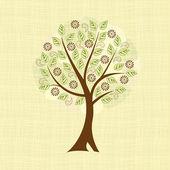 Deciduous tree — Stock Vector