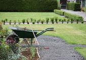 Zahradníci kolečko. — Stock fotografie