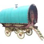 Gypsy Horse Drawn Caravan. — Stock Photo