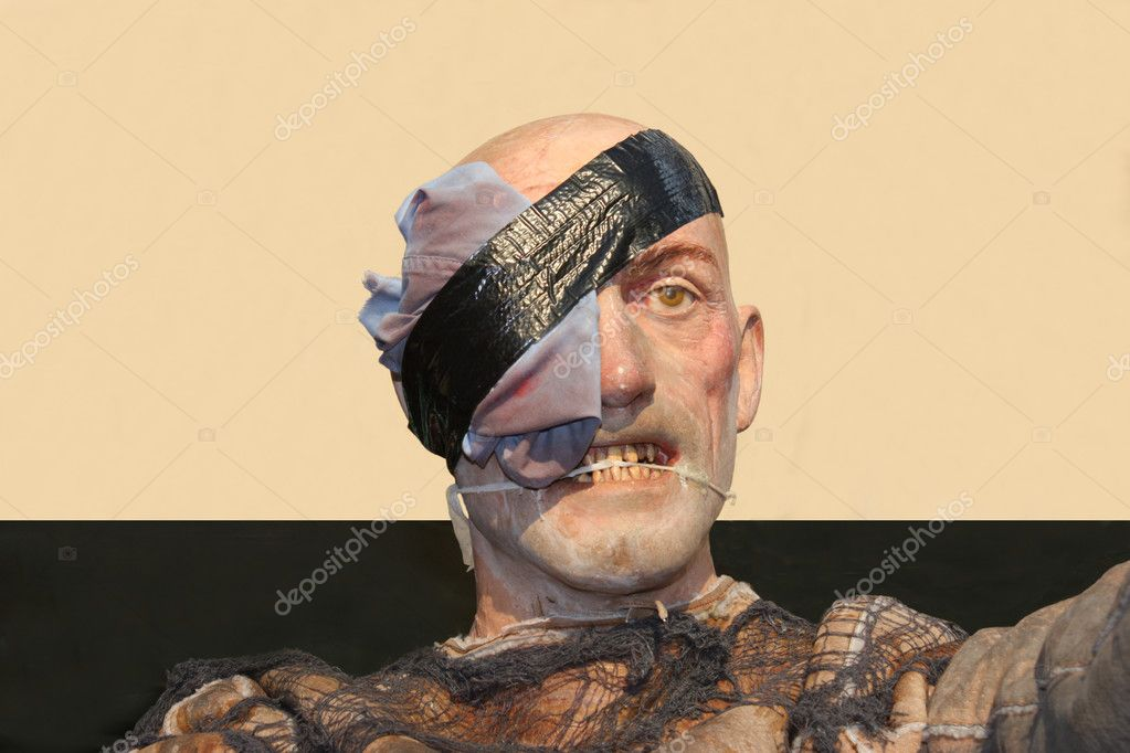 A Waxworks Model of a Scary Man. — Stock Photo #8883556