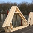 Timber Roof Trusses. — Stock Photo #9588553