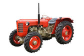 Red Farming Tractor. — Stock Photo