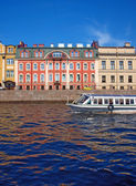 St. Petersburg river channel — Stock Photo