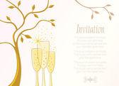 Invitation template — Stock Vector