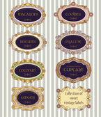 Selection Of Vintage Labels — Stock Vector