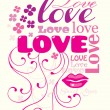 Love composition — Stock Vector #8595328