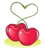 Love cherries — Stock Vector