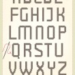 Cross stitch alphabet — Stock Vector